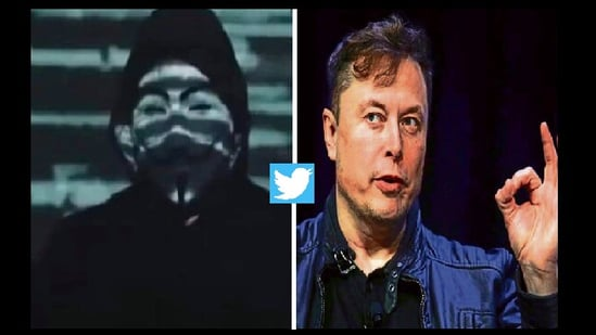 Elon Musk shared the meme on his Twitter handle a week after Anonymous shared the video.(Twitter/@elonmusk)