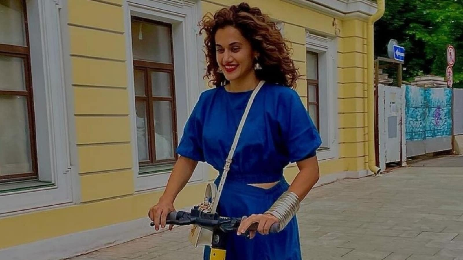 Taapsee Pannu provides boho vibes to ₹10k crop prime and harem pants on Moscow journey