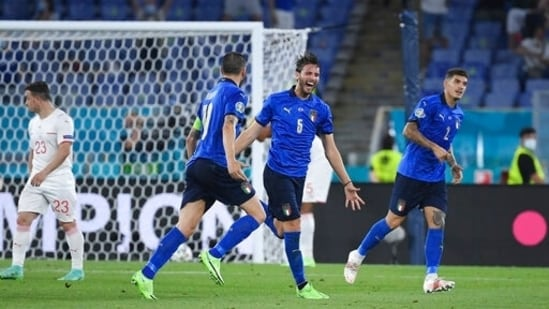 Manuel Locatelli scored a brace on the night as Italy defeated Switzerland 3-0 in their UEFA Euro 2020 Group A game.(AP)