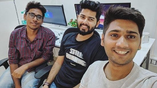 From left Prakhar Shrivastava, Satyansh Tiwari, Mihir Gadhvi