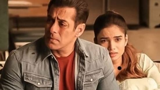 Salman Khan in a still from deleted scene from Radhe.