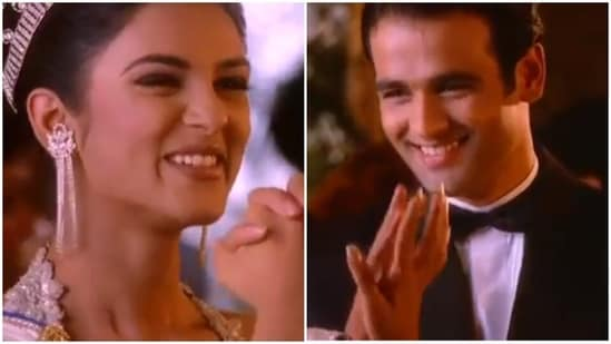 Sushmita Sen and Rohit Bose Roy in his first commercial.