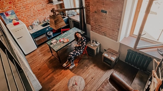 Taapsee Pannu at her Airbnb in Russia.