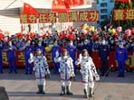 China launched Nie Haisheng, Liu Boming and Tang Hongbo into orbit aboard the spacecraft Shenzhou-12. (Reuters Photo)