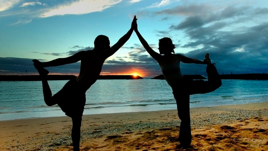 International Yoga Day will be marked on Monday next week (June 21). (File Photo / REUTERS)