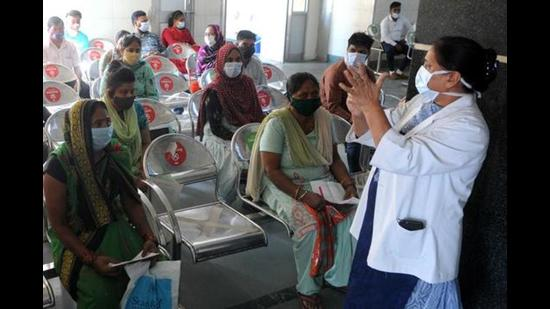 Government Multi-Specialty Hospital is also attending to nearly 1,300 people daily at its OPDs. (HT Photo)