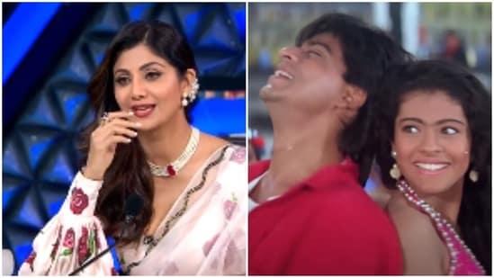 Shilpa Shetty, Shah Rukh Khan and Kajol starred in the 1993 film Baazigar.