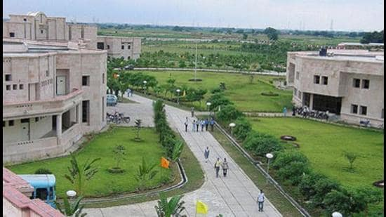 IIIT-A campus in Jhalwa, Prayagraj (HT File Photo)
