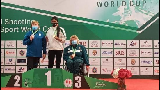 Rubina Francis wins the gold on Wednesday, June 16, at the Peru event. (Photo: Twitter)