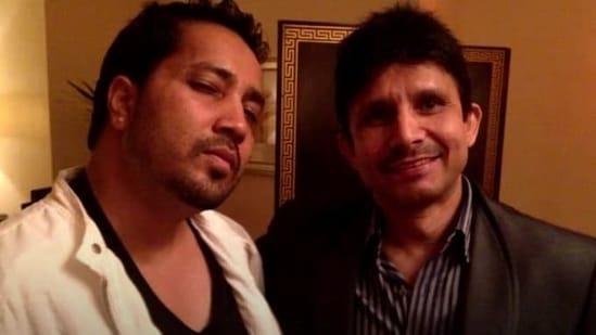 KRK and Mika Singh pose together.