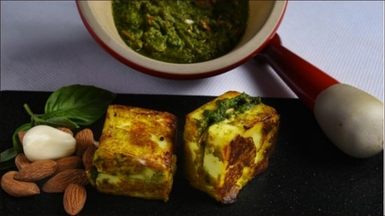 Father's Day recipe: Feed dad's heart and soul with almond pesto paneer tikka(Chef Manish Mehrotra)