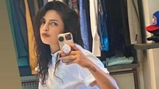 Priyanka Chopra shared a mirror selfie on Instagram.