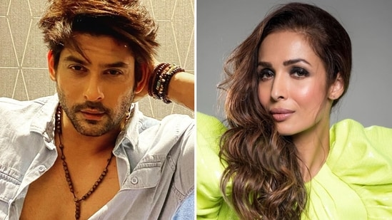 Malaika Arora once jokingly pushed Sidharth Shukla out of the way during a photo session.