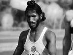 Legendary India sprinter Milkha Singh passed away at the age of 91.(Kolkata Knight Riders/Twitter)