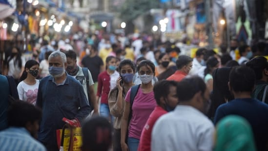 Markets and shops have been allowed to open for two weeks now, at first only in a 50% arrangement before the restrictions were eased further on June 14. (Photo by Sanchit Khanna/ Hindustan Times)
