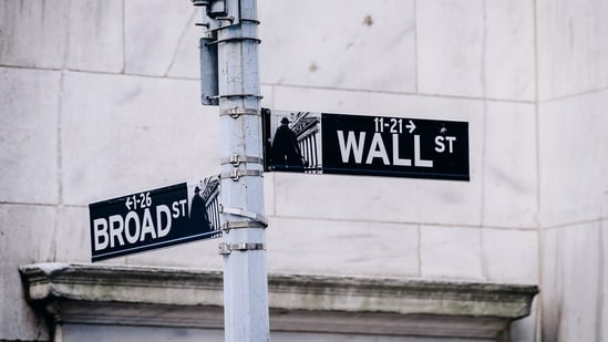 Wall Street and Broad Street signs in New York, US, on Monday, June 14, 2021. (Bloomberg)