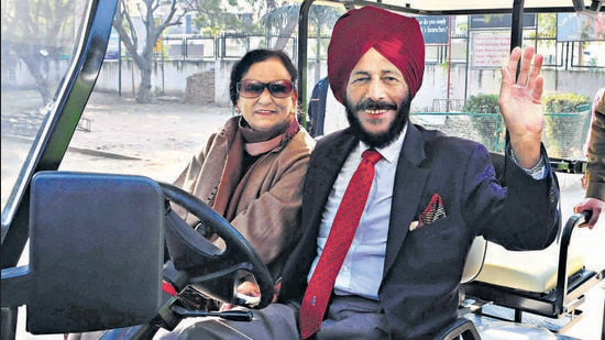 BIDDING ADIEU Married for 58 years, Milkha Singh, 91, and Nirmal Kaur, 85, lost the battle to Covid within a week. (HT File Photo)