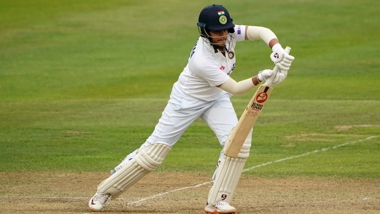 Bristol: India's Shafali Verma in action during day three of the Women's International Test match between England and India at the Bristol County Ground in Bristol, England, Friday, June 18, 2021.(AP)