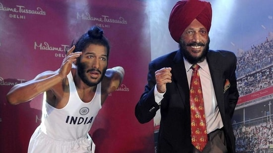 """""""In the passing away of Shri Milkha Singh Ji, we have lost a colossal sportsperson, who captured the nation's imagination and had a special place in the hearts of countless Indians. His inspiring personality endeared himself to millions. Anguished by his passing away,"""" PM Modi tweeted.(HT Photo)"""