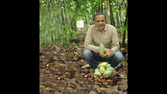 Vikas Temani, founder and business head of Paul and Mike, is disrupting India's chocolate market with homegrown cacao beans and bars that feature unusual combinations of flavours. (Vivek Nair / Hindustan Times)