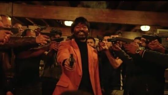 Jagame Thandhiram movie review: Dhanush, in a still from Karthik Subbaraj's new film.