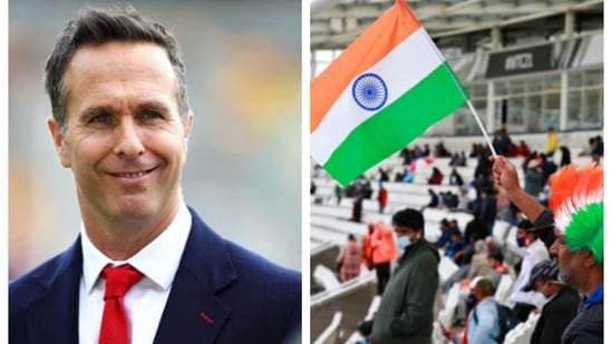 Michael Vaughan tweeted about the rain delay in WTC final