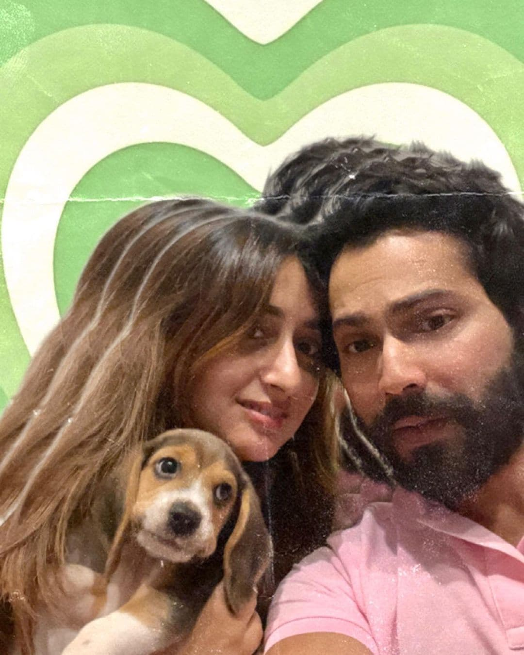 Varun Dhawan shared and deleted a post with his wife Natasha Dalal and their dog Joey.