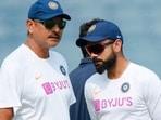 India head coach Ravi Shastri (L) and captain Virat Kohli (R)