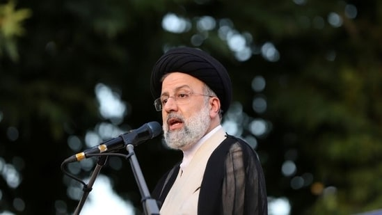 Presidential candidate Ebrahim Raisi speaks during a campaign rally in Tehran, Iran June 15, 2021. (Reuters)
