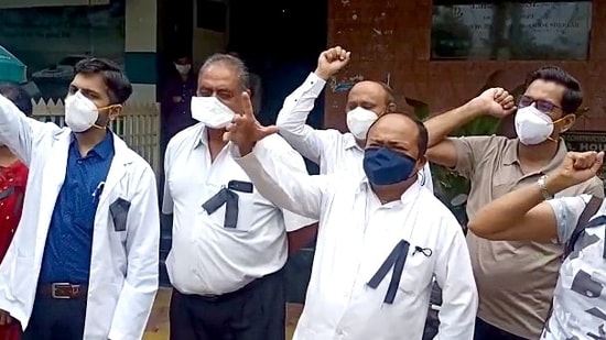 On June 1, a doctor posted at a Covid Care Centre in Assam was assaulted by the relatives of a patient who succumbed to the virus(ANI Photo)