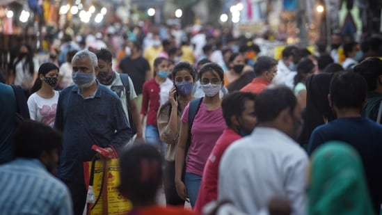 Meanwhile, traders across the city said they are working with police to ensure compliance, adding that shoppers also need to cooperate to prevent the spread. (Photo by Sanchit Khanna/ Hindustan Times)