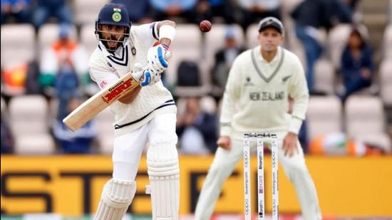 India's Virat Kohli in action against New Zealand in the WTC final on Saturday. (Action Images via Reuters)