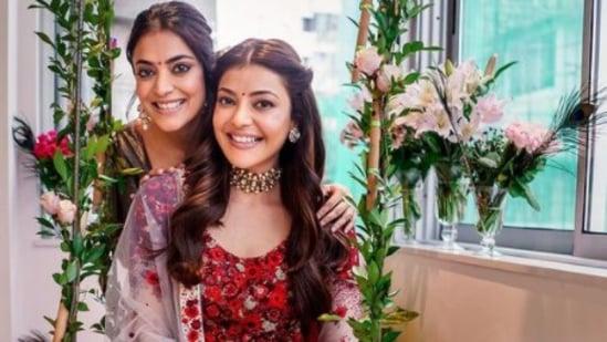 Kajal Aggarwal with her sister Nisha Aggarwal.