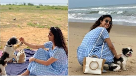 Keerthy Suresh shared the pictures on the occasion of International Picnic Day.