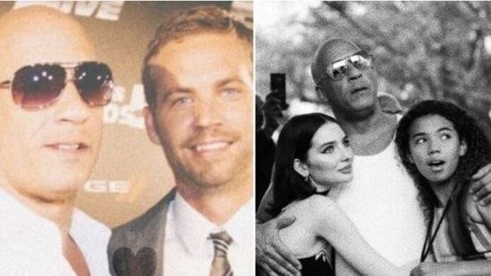 Vin Diesel with late Paul Walker and his daughter Meadow Walker.