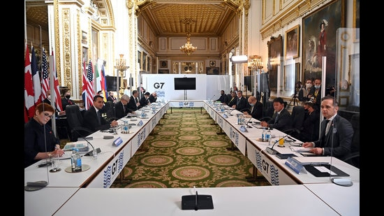 The pandemic, predictably, figured in the discussions. G7 countries agreed that something had to be done to help the poorer countries, which weren't able to procure vaccines. The outcome was a pledge to supply one billion vaccines for poorer countries till the end of 2022, something experts widely described as inadequate. (AP)