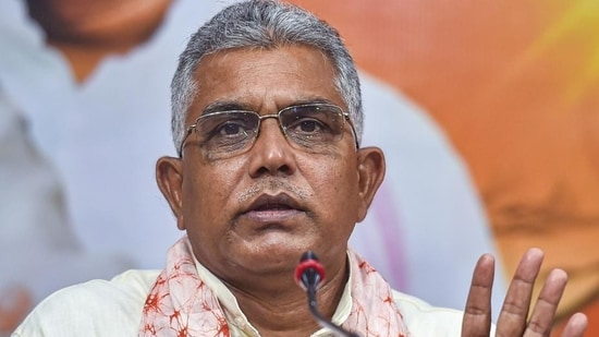 """""""Our legal cell is exploring all options where petitions can be filed. Our lawyers are making preparations,"""" said Dilip Ghosh(PTI image)"""