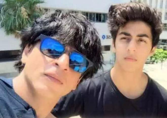 Aryan Khan with Shah Rukh Khan.