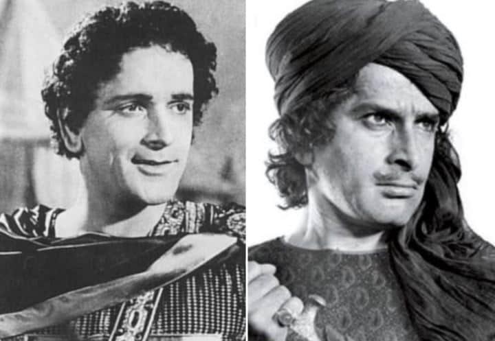 Prithviraj Kapoor (left) in Sikardar and Shashi Kapoor in Junoon.
