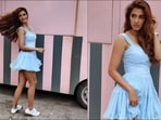 Disha Patani's flirty blue dress from Pepsi ad deserves a spot in summer closet(Amigos Communications)