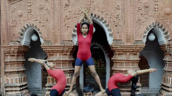 Children can also benefit from yoga. As many are facing mental stress due to isolation and anxiety in an unpredictable school year, yoga can be a useful coping method. (PTI)