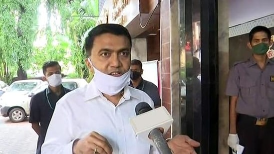 Goa chief minister Pramod Sawant has said that Covid-19 situation is improving in the state.(ANI File Photo)