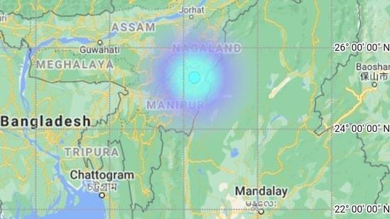 The first earthquake on Sunday occurred near Arunachal Pradesh's Pangin region. (Photo via @NCS_Earthquake on Twitter)