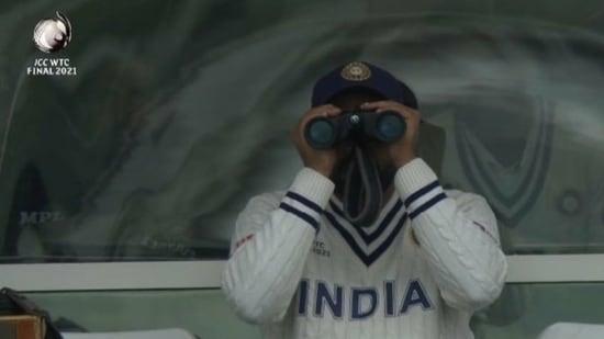 WTC final: Ritika Sajdeh reacted to this picture of Rohit Sharma(Screenshot)