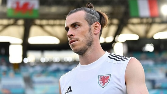 Gareth Bale of Wales looks on during a training session. (Getty Images)