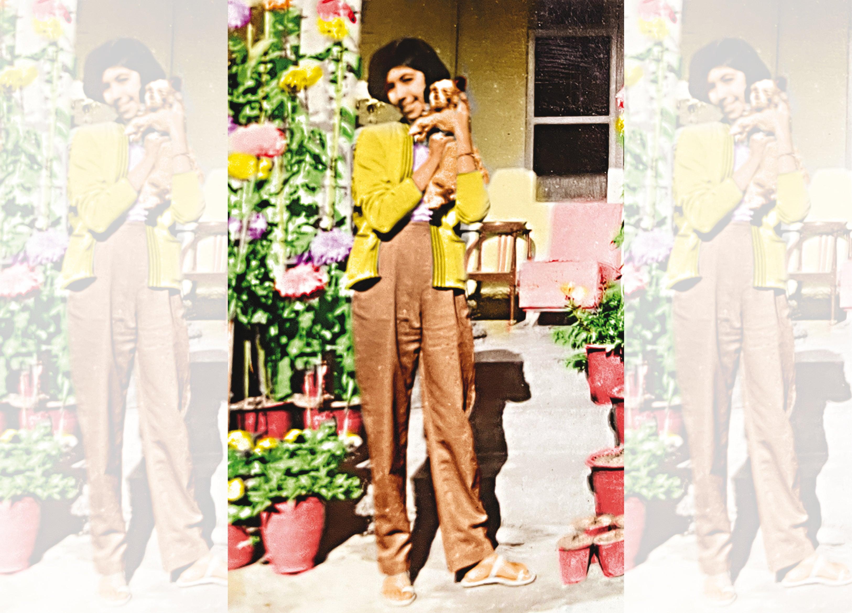 Ritu with her dog Simmi