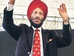 Former Indian athletics Milkha Singh at an event.(HT Archive)