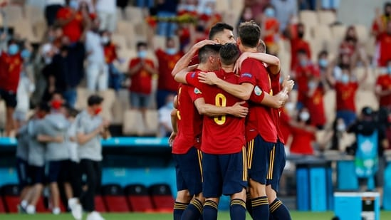 Spain in action during Euro 2020(REUTERS)