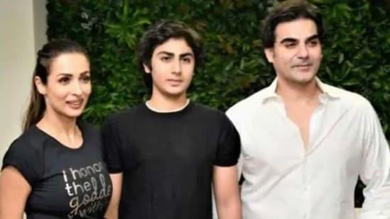 Ex-couple Arbaaz Khan and Maliaka Khan with their son, Arhaan Khan.