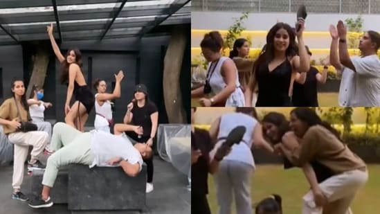 Janhvi Kapoor shares a new goofy video, Arjun Kapoor reacts.